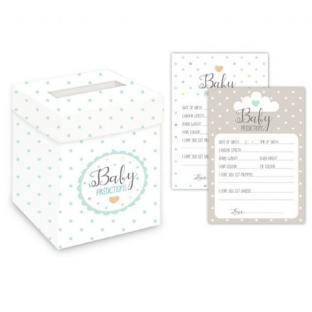 Oh Baby Prediction Cards & Post Box - Mint Green